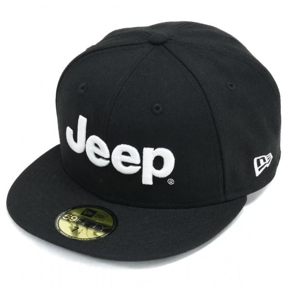 Jeep® × NEW ERA® 59 (フラットバイザーキャップ) BLACK
