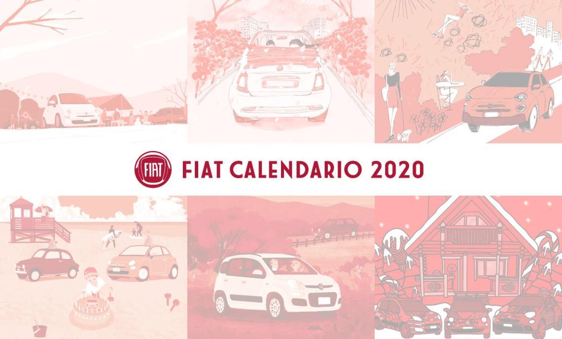 フィアット 2020年 オリジナルカレンダー