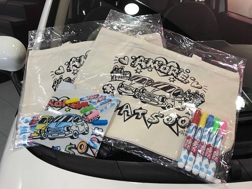 500カラーリングトートバッグ