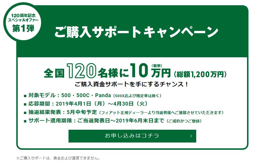 120周年スペシャルオファー
