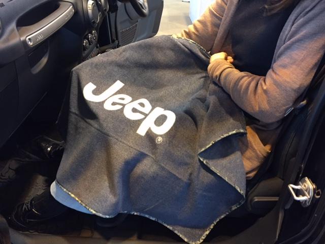 Jeepオリジナルフリースブランケット
