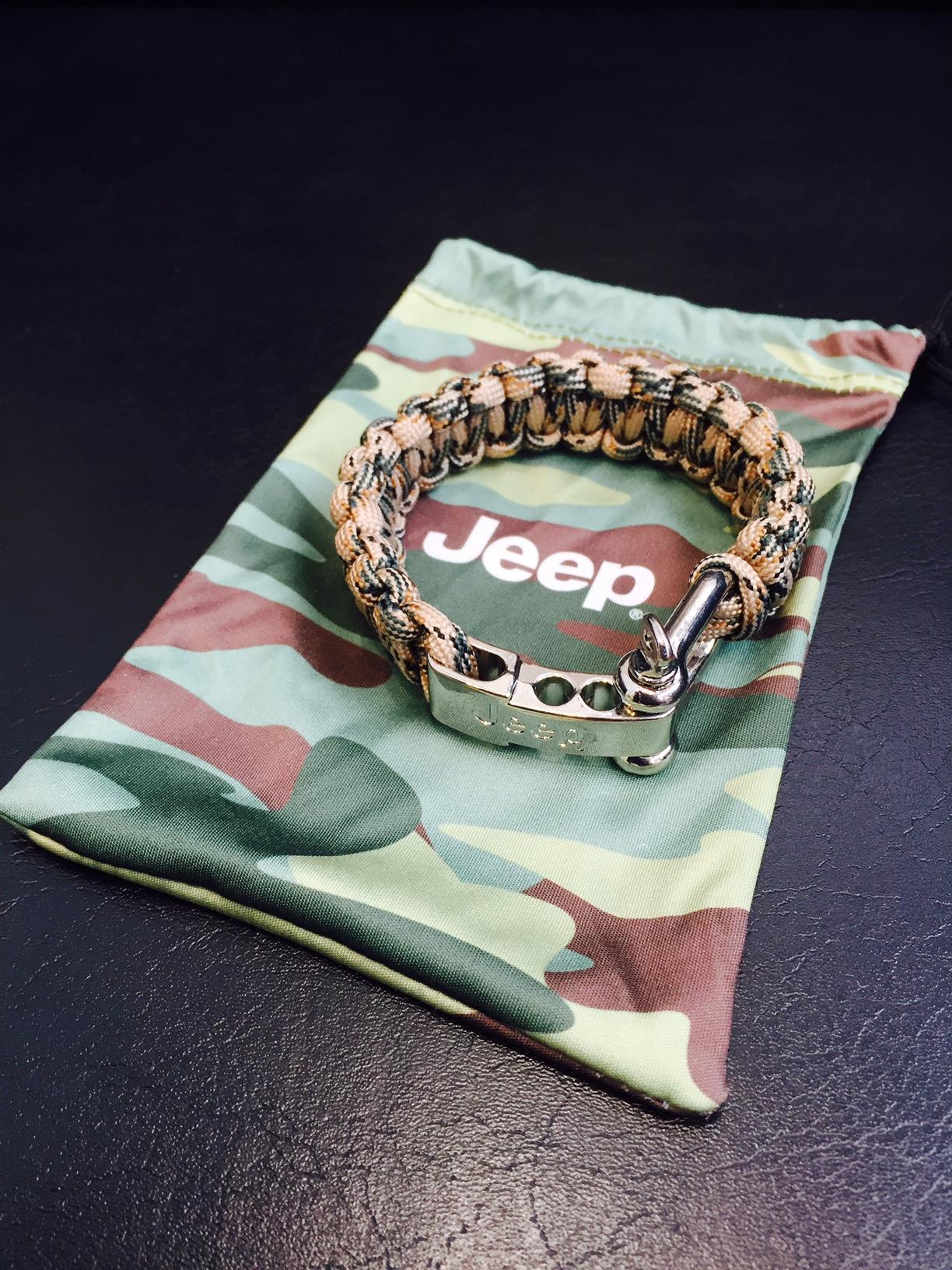 Jeep ポーチ付 リストバンド Rope