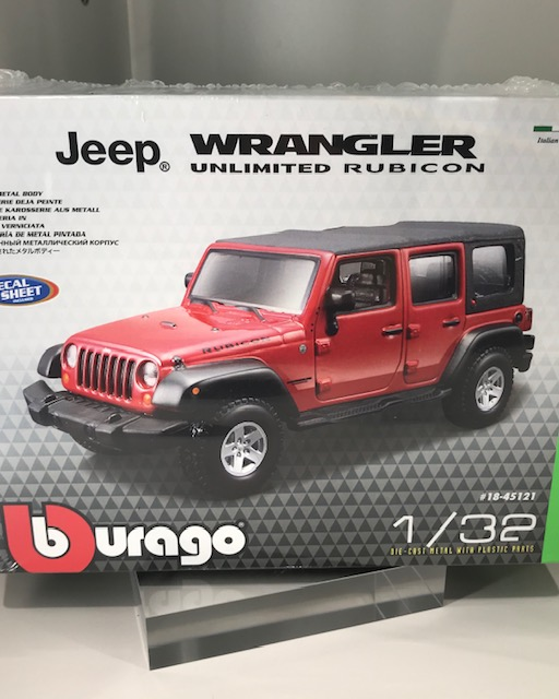 1/32 Wrangler Rubicon Kit Model